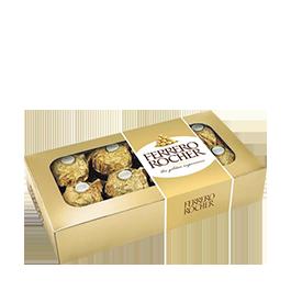 Ilustração - Chocolate Ferrero Rocher 100g com 8 unidades